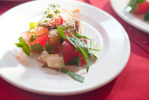 Braised Pork Belly with Pickled Watermelon Rind @ Rouge & White Garden Party