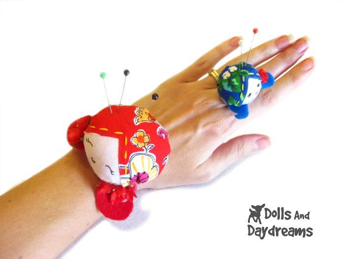 Wrist and Ring Doll Pin Cushion Sewing Pattern Dolls And Daydreams