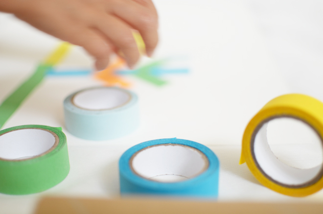 diy: colored tape art