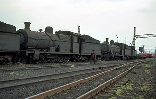 021. 1980-12. Germiston (SA) Locomotive Depot. Class 1A and 7A Locomotives.