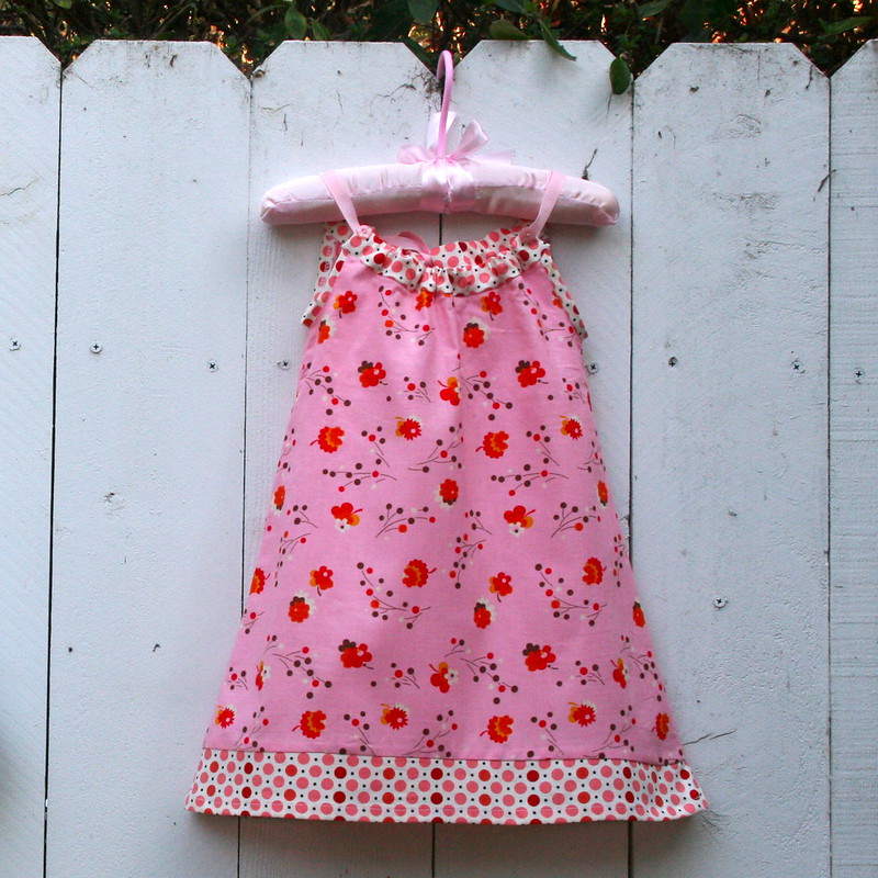 Pillowcase Dress for Toddler in Denyse Schmidt Flea Market Fancy Fabric