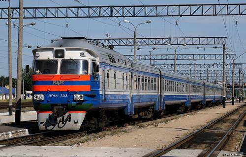 train railway belarus bch dmu baranovichi dr1a