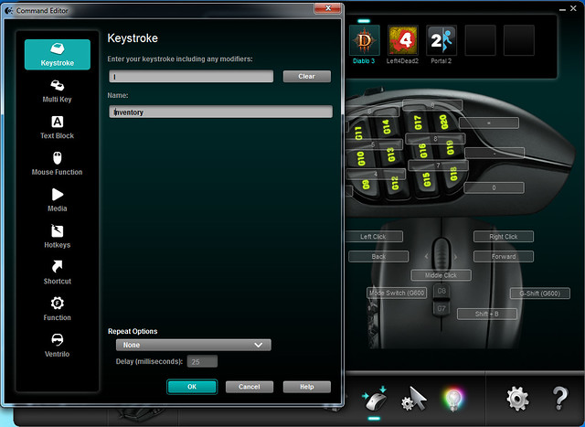Logitech Gaming Software - Command Editor