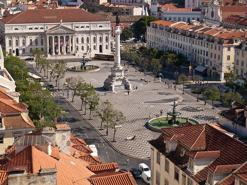 Plaza del Rossio (Plaza Don Pedro IV)  Lisboa by treboada