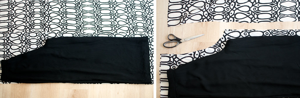 diy tribal print palazzo pants process