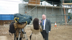 Eric Pickles talks to the press about investment in rail