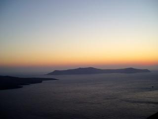 sunset over volcano