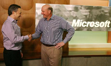 Yammer CEO David Sacks with Microsoft Ballmer