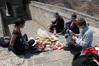 Time for picnic on the Great Wall