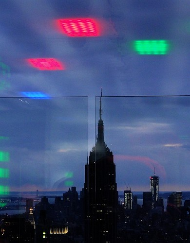 Empire State and reflected lights
