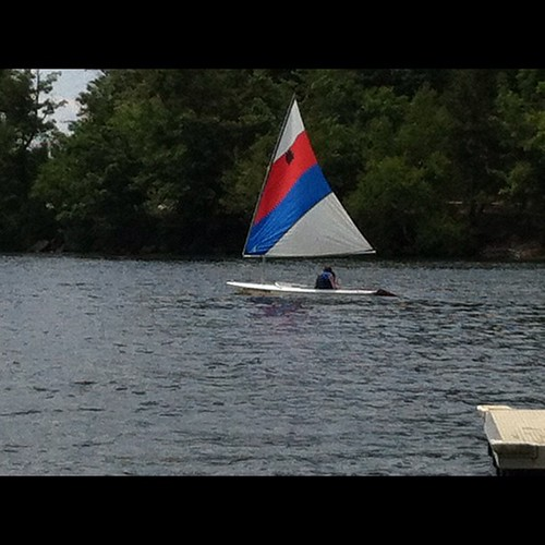 204:365 Me sailing the Sunfish #latergram