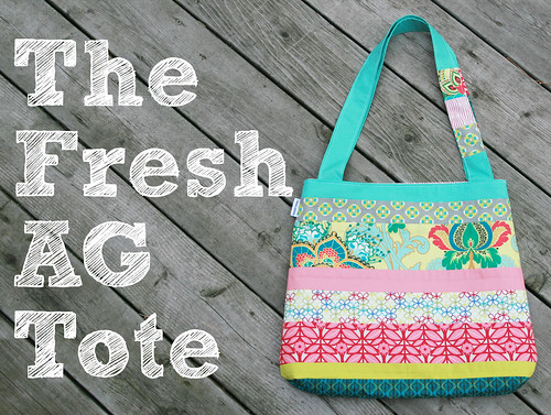 Fresh AG Tote ~ Pattern for the Art Gallery Fabrics Fat Quarter Gang