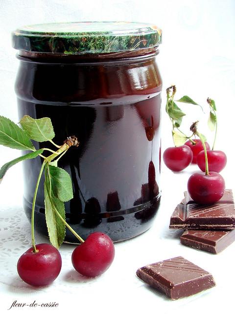 cherry-choco-brandy jam