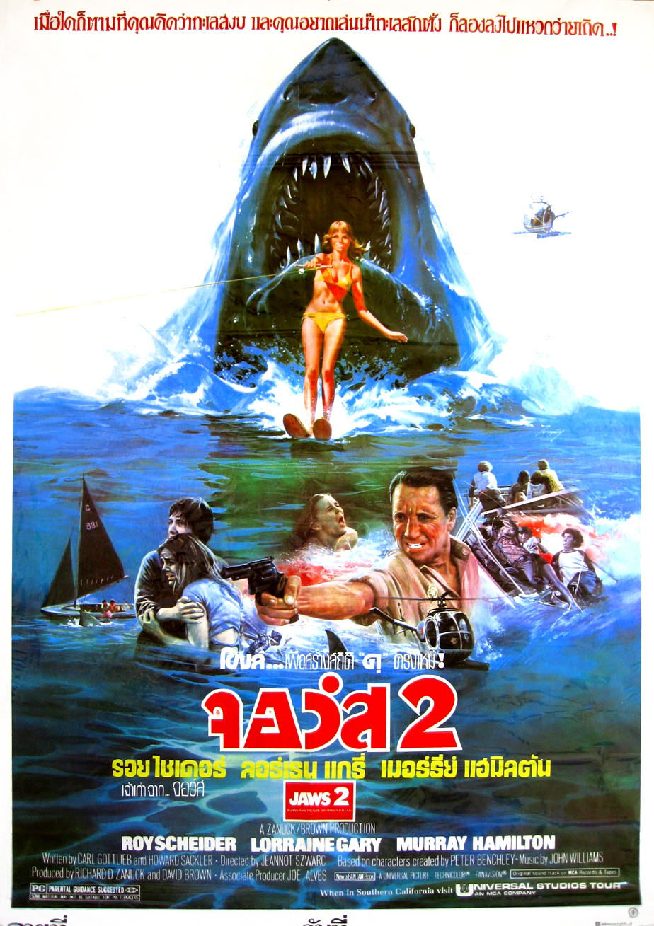 Jaws 2, 1978 (Thai Film Poster)