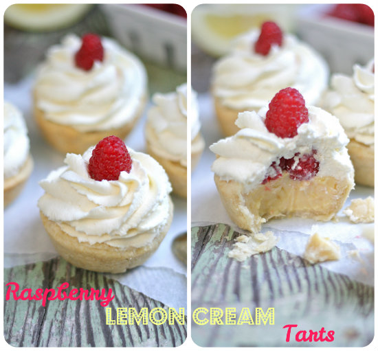 Raspberry Lemon Cream Tarts