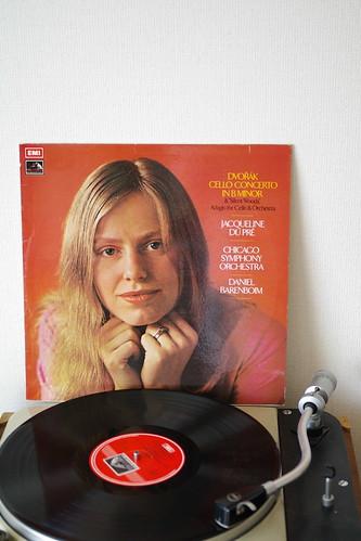 ドヴォルザーク チェロ協奏曲、デュプレ,バレンボイム/シカゴ交響楽団。英EMI ASD 2751