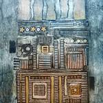 Cityscape Collagraph Print