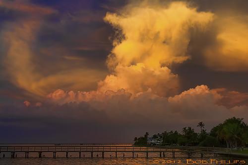 florida stormclouds sunser pineisland bokeelia