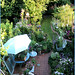 A new birdseye view of my small row cottage garden