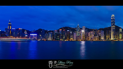 night image harbour victoria hong kong 香港 夜景 維多利亞港