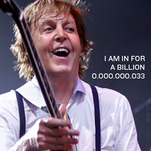 0.000.000.033: Hi, I am Paul McCartney from UK. I am a Non-Violence and Peace Ambassador. Join the movement and GIVE PEACE A FACE by signing up your face just like me…and write a message to the world right here. Thank you and have fun!Paul