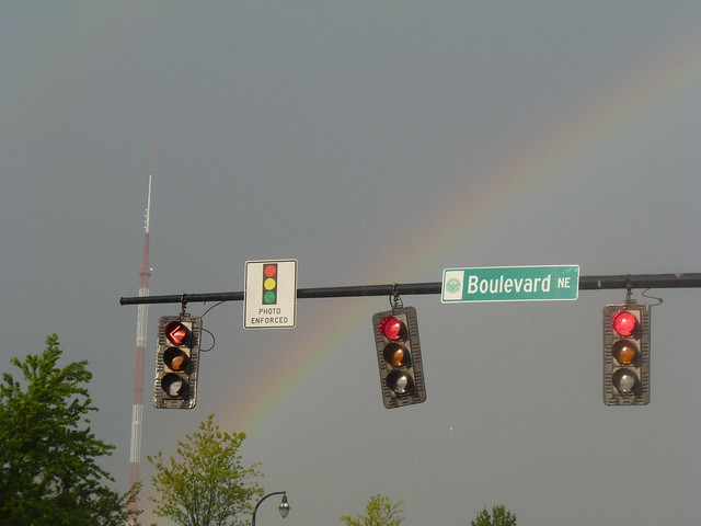 A rainbow over Boulevard