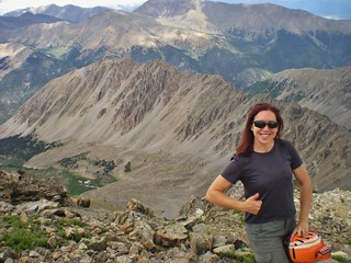 Clare on Summit of La Plata