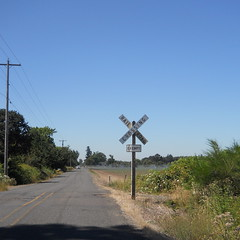 An abandoned railroad crossing near Molalla