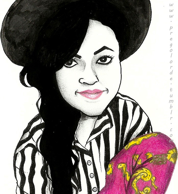 drawing of me done by my one of my blog readers