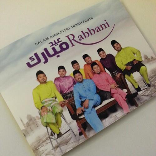 Sumpah! Aku nangis tgk Chong Wei kalah. Takpe. Ini gambar kad raya dari Rabbani.