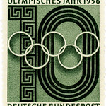 Germany stamp: Olympic Year 1956