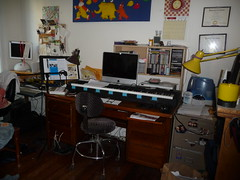 classroom(0.0), living room(0.0), studio(0.0), art(1.0), building(1.0), furniture(1.0), room(1.0), interior design(1.0), design(1.0), desk(1.0), home(1.0),