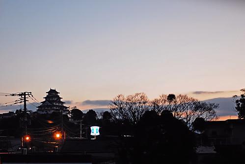 Karatsu castle sunset
