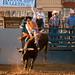 rodeo cowboy vs. rodeo bull