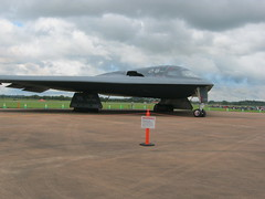 fighter aircraft(0.0), flight(0.0), aviation(1.0), military aircraft(1.0), airplane(1.0), wing(1.0), vehicle(1.0), northrop grumman b-2 spirit(1.0), tarmac(1.0), jet aircraft(1.0), air force(1.0),