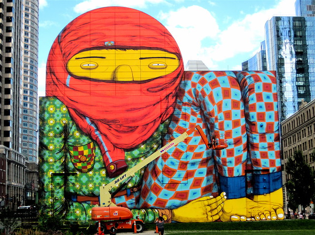 Boston downtown crossing dewey square os gemeos mural 5 for Boston dewey square mural