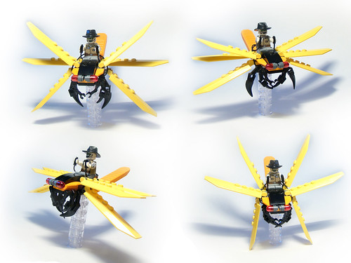 white yellow bug insect lego dragonfly awesome mount mummy creature rider separator moc cuusoo