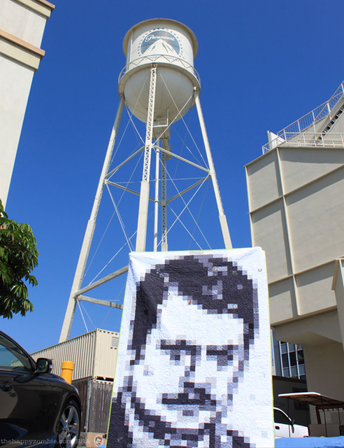 Ron Swanson quilt along - RonQuilt infiltrates Paramount Studios