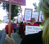 Nurses protest at Rideout
