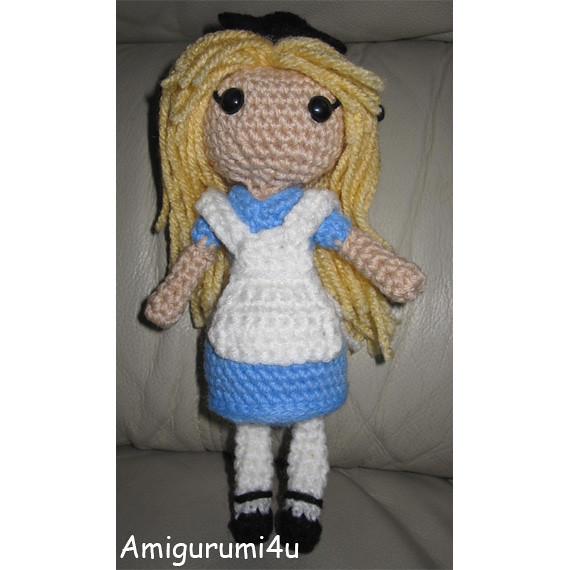 Alice in Wonderland Disney Handmade Amigurumi Crochet Doll ...