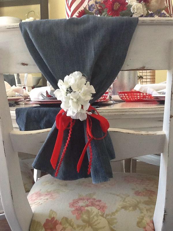 denim chair covers