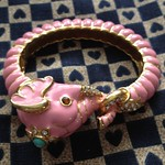 kenneth jay lane pink elephant bangle