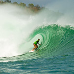 Bethany Hamilton got the best barrel of Heat 4 in Round 1 and advanced to the next round.<br />