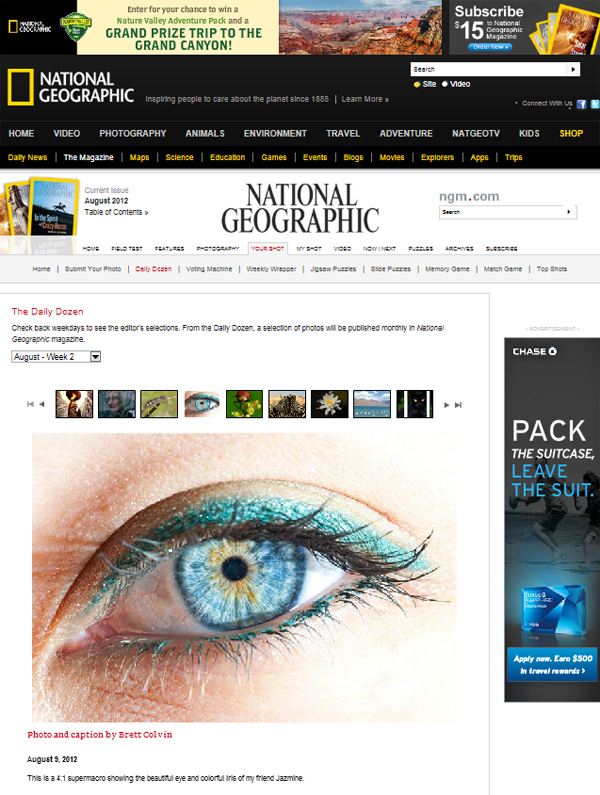 National Geographic Daily Dozen Winner - 9 Aug 2012