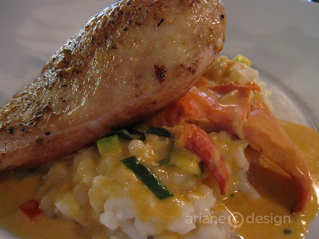 Opera Bistro, Saint John/Chicken breast, lobster risotto