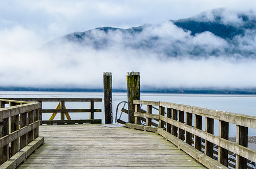 Dock in the Nisga'a village in the Nass Valley
