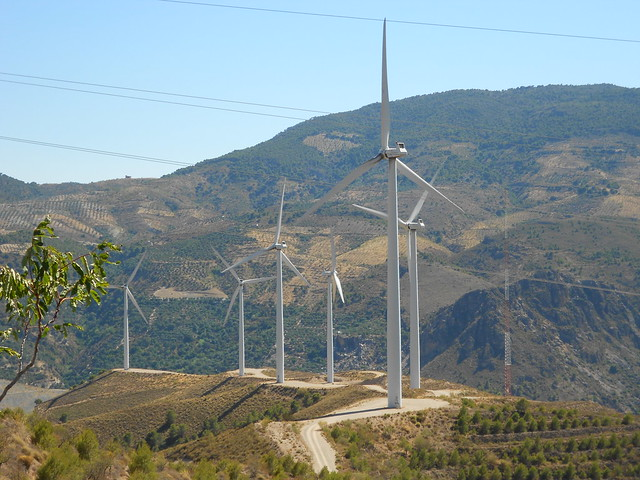 pale eoliche, Lanjaron, La Alpujarra