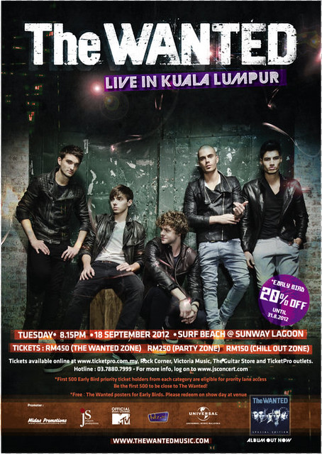 The Wanted Live in Kuala Lumpur Concert