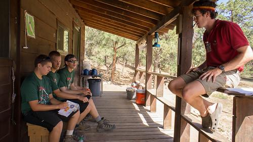 Porch talk at Dean Cow