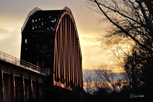 railroad bridge sunset bridges sunsets rr railroadbridge mygearandme